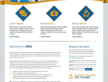 Website design for Metabolic Support Solutions, a division of Care Solutions, Inc.