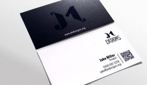 JM Designs' business card