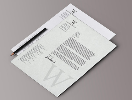 Letterhead and Mockup for Whatley & Associates